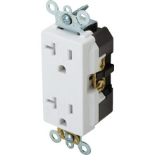 15 Amp Commercial Grade Decora Receptacle - White