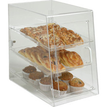 3 Tray Food Display Cabinet Acrylic