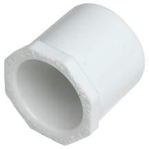 "PVC Bushing Schedule 40 - 3/4"" x 1/2"" - SPG x Slip"