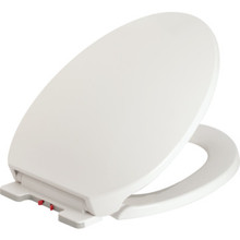 Seasons Plastic Elongated Toilet Seat Quick Change And Slow Close Hinge