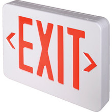 LED Battery Back Up Exit Sign Red Single Or Double Sided Pack of 6