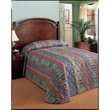 Martex Bedspread Full XL 96x116 Throw Style Palmer Multicolor