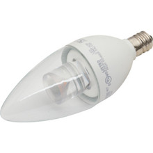 LED Bulb TCP 5W Torpedo (40W Equivalent) 2700K Candelabra Base Clear Dimmable