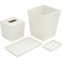 6 Quart Spa Trash Can White