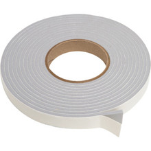 """3/4""""W x 3/16""""H x 17'L Vinyl Foam Tape Gray"""