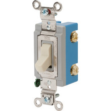15 Amp Commercial Grade Quiet Switch - White