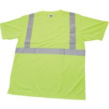 Ergodyne Glowear Lime Class 2 T-Shirt - X-Large