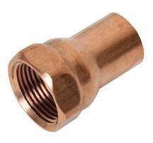 """Copper Female Adapter - 3/4"""" x 1/2"""""""