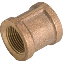 "Brass Coupling 1/2"" x 1/2"""