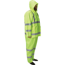 WestChester Class 3 Fluorescent Lime Green 3 Piece Rain Suit Large