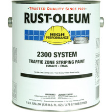 1 Gallon Rust-Oleum High Performance Traffic Zone Paint - White 2 Per Package