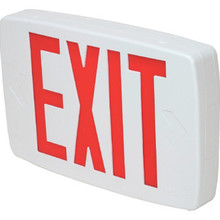 Lithonia Lighting LED Battery Backup Exit Sign Red Self-Diagnostic