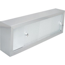 "24x8"" Chrome-Plated Aluminum Cosmetic Box With Sliding Plastic Doors"