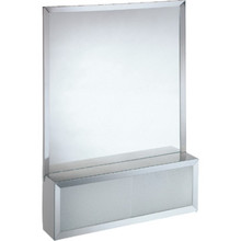 "30x32"" Chrome-Plated Aluminum Cosmetic Box With Attached Mirror"
