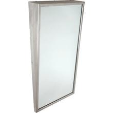 """Bobrick Framed Angled Mirror 18 x 30"""" Satin Stainless Steel"""