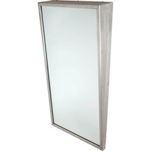 "Bobrick Framed Angled Mirror 24 x 36"" Satin Stainless Steel"