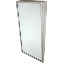 """Bobrick Framed Angled Mirror 24 x 36"""" Satin Stainless Steel"""