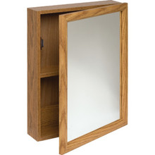 "16x20"" Surface Mount Oak Wood Medicine Cabinet"
