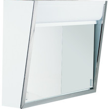"24x19-1/2"" Top Lighted Sliding Door Mirror Medicine Cabinet"