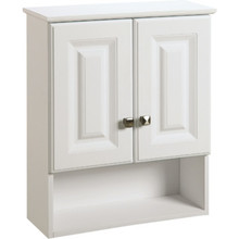 "Seasons 21x26x7"" White Thermofoil Over The John Vanity Wall Cabinet"
