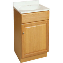"Seasons 18W x 31-1/2H x 16""D Honey Oak Vanity Base Cabinet"