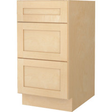 "Seasons 18W x 32-1/2H x 21""D Natural Maple Vanity Drawer Base Cabinet"