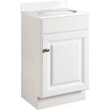"Seasons 18x31-1/2x16"" White Thermofoil Vanity Cabinet"