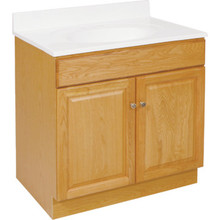 "Seasons 30W x 31-1/2H x 18""D Honey Oak Vanity Base Cabinet"