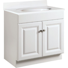 "Seasons 30x31-1/2x18"" White Thermofoil Vanity Cabinet"