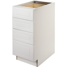 "Seasons 18W x 34-1/2H x 24""D White Thermofoil Drawer Base Cabinet"