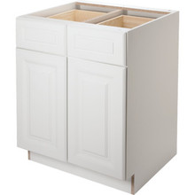 "Seasons 30W x 34-1/2H x 24""D White Thermofoil Base Cabinet"