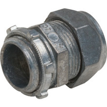 "1/2"" Compression Connector - Die-Cast - Non-Insulated"