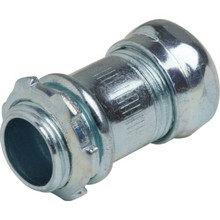 "1/2"" Compression Connector - Steel - Non-Insulated"