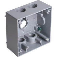 2-Gang Weatherproof Box With 5 3/4""