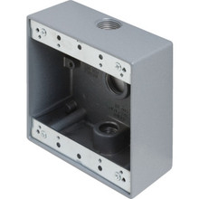 "Double Gang 1/2"" 3-Hole Weatherproof Box"