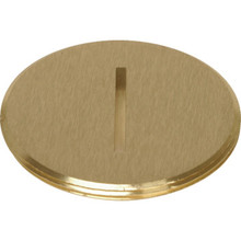 "1-1/2"" Flush Slotted Plug Brass"