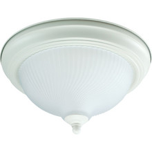 1 Light Flush Mount Fixture Eggshell Frosted Swirl-Ribbed Glass Glass 11-1/4""