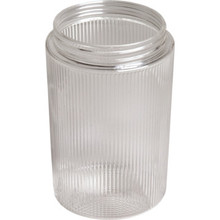 "Clear Ribbed Cylinder Acrylic 4-3/4H 3-1/4"" Fitter"