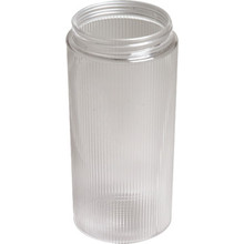 "Clear Ribbed Cylinder Acrylic 7-1/4H 3-1/4"" Fitter"