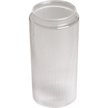 "Clear Ribbed Cylinder Acrylic 7-1/4H 3-1/8"" Fitter"