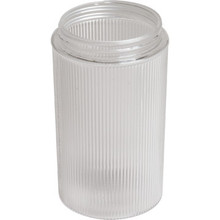 "Clear Ribbed Cylinder Lexan 6H 3-1/4"" Fitter"