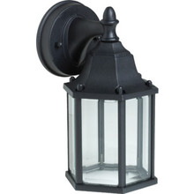 "10"" BLACK OPEN LANTERN W/ CLEAR GLASS"