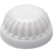"""White Fixture Cap 1/8""""Plastic Pack of 25"""