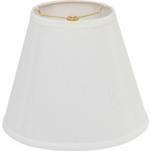 """Round French Drape Lamp Shade 7 x 17 x 12"""" Cream Pack of 6"""