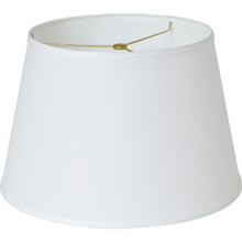 """Round Hardback Linen Lamp Shade 11 x 15 x 10"""" White Pack of 6"""