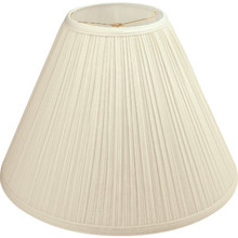 "Round Mushroom Pleated Lamp Shade 7 x 17 x 12-1/2"" Parchment Pack of 6"