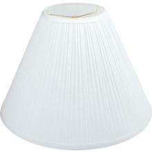 """Round Mushroom Pleated Lamp Shade 7 x 17 x 12-1/2"""" White Pack of 6"""