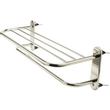 "Wingits Polished Stainless Steel Towel Shelf and Bar 24"" Exposed Mount"