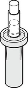 """2-1/2"""" Wardrobe Bi-Fold Top Pivot Nylon Base, Package of 2"""
