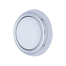 "1-1/4"" Cabinet Knob White/Polished Chrome, Package of 5"